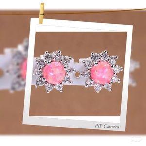 Jewelry - Light Pink Fire Opal earrings